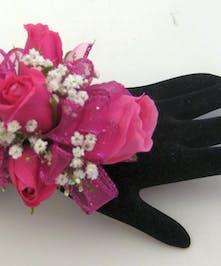 Hot Pink Wrist Corsage