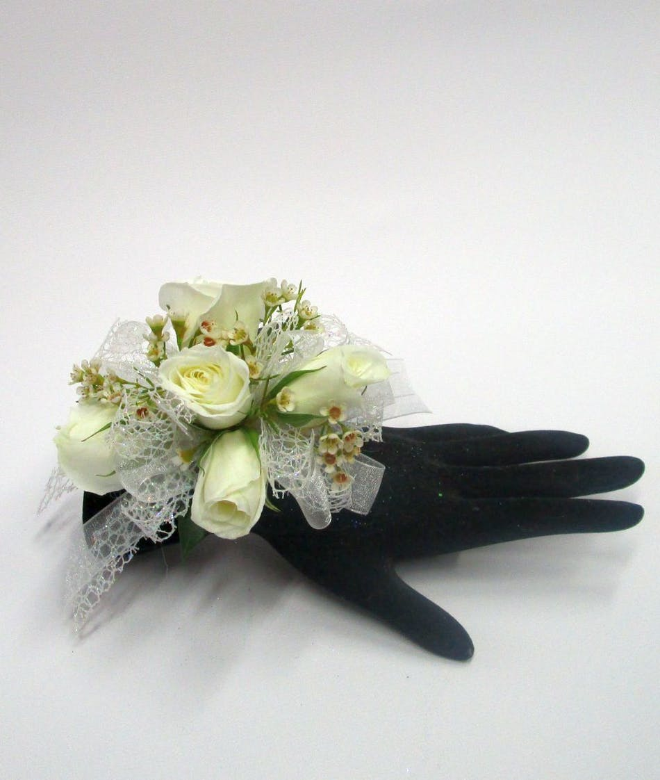 All White Corsage Salisbury Md Florist Flower Delivery