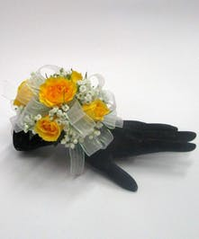 Yellow & White Wrist Corsage