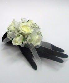 White Wrist Corsage