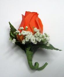 Orange Rose Bouttoniere
