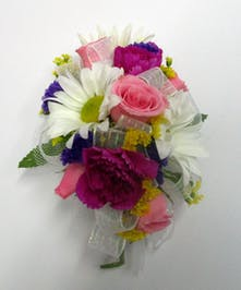 Mixed Flower Pin On Corsage