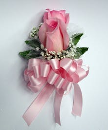 Pink Rose Pin On Corsage