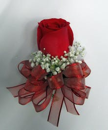 Red Rose Pin On Corsage