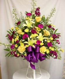 Purple and Yellow Basket