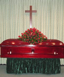 Red Rose Splendor Funeral Package