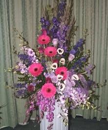 Purple Radiance Pedestal Piece