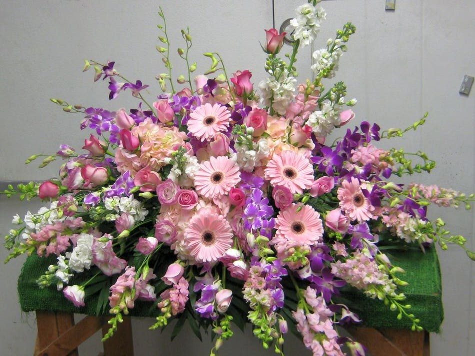 Sweetly Rest Casket Spray Salisbury Md Florist Flower Delivery