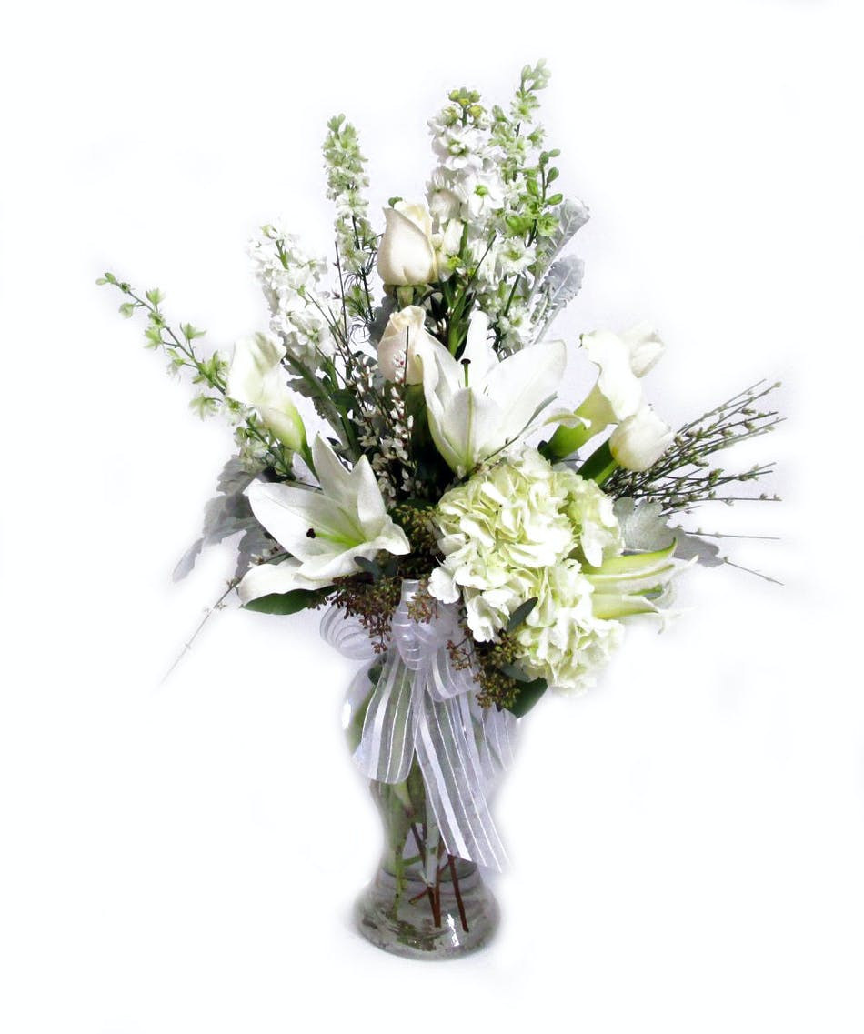 Whispering In White Salisbury Md Florist Flower Delivery
