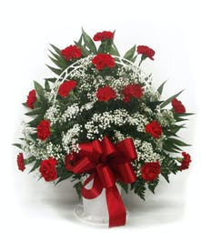Sympathy Basket Red