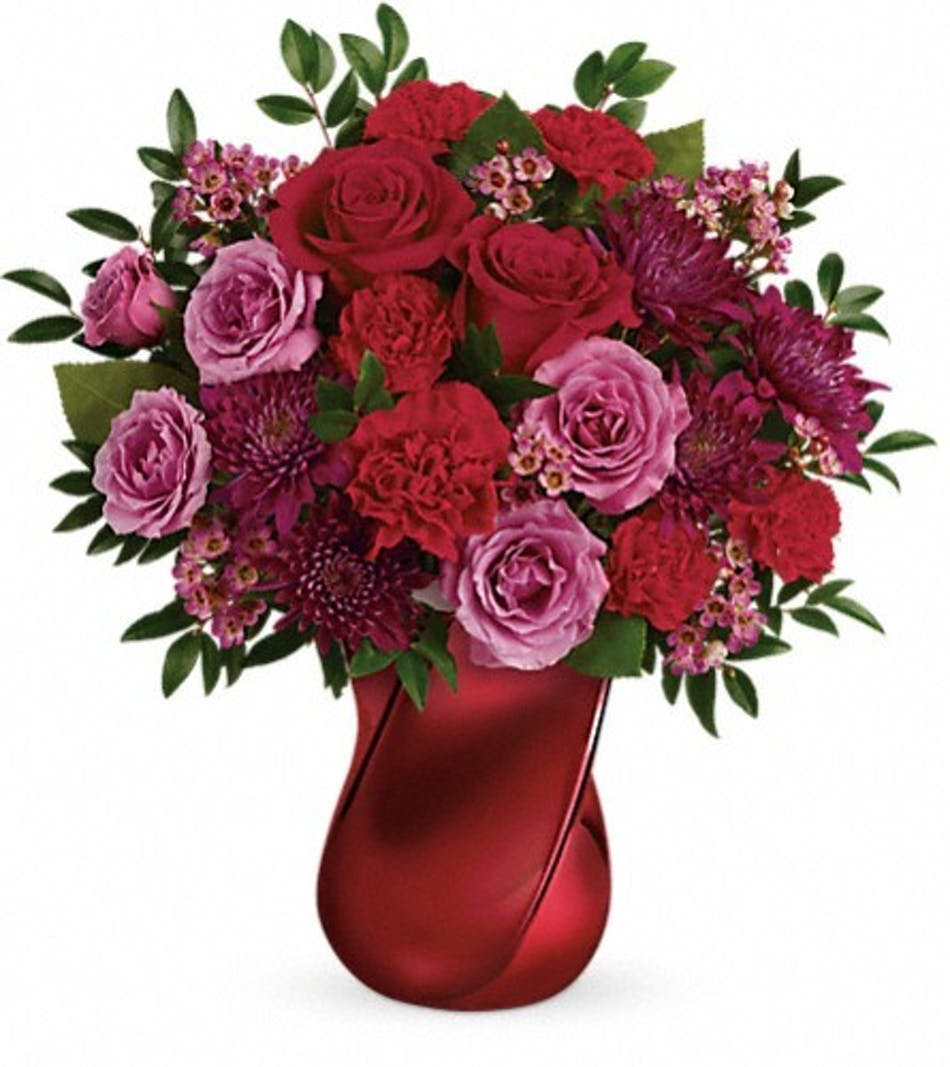 red carnations rose bouquet salisbury md kitty s flowers
