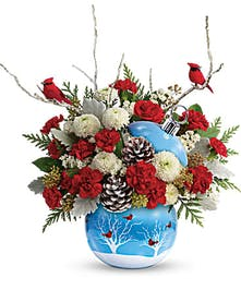 Teleflora Cardinals in the Snow