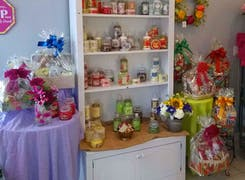 In addition to flowers and plants, Kitty's offers a range of gifts and decorations