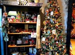 Seasonal decorations and nick-nacks on display